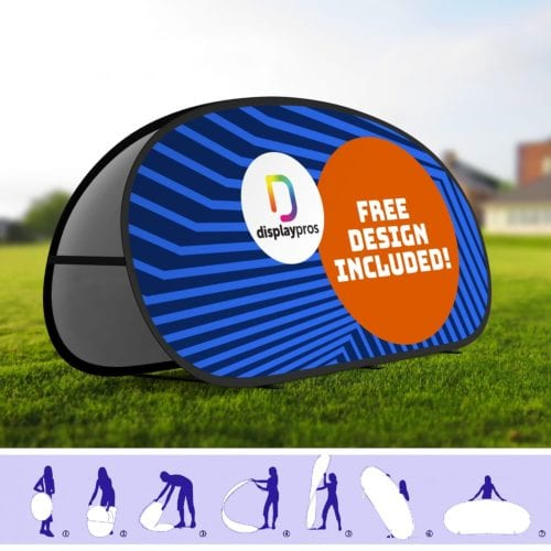 Circle Pop Up A Frame Banner (outdoor Display)