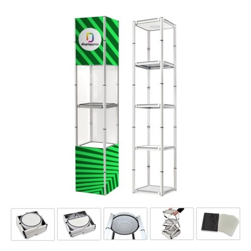 Circular Twister Tower Collapsible Product Display