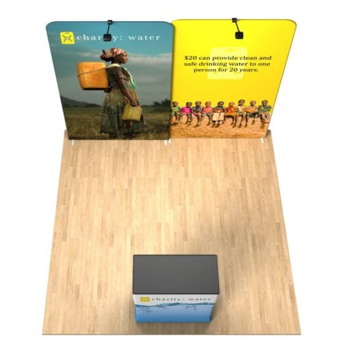 Expo Duet 10×10 Waveline Trade Show Booth Tension Fabric Display Kit
