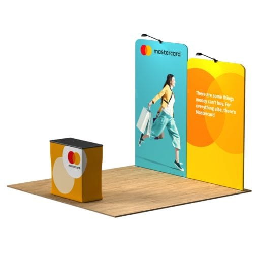 Expo Step 10×10 Waveline Trade Show Booth Tension Fabric Display Kit