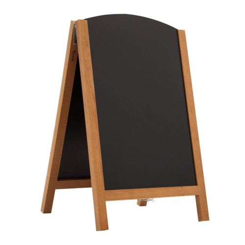 34″ Quick Change Wood A-frame Chalkboard Hardware
