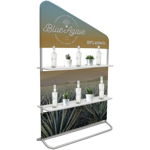 4′ X 71″ Eurofit Evolution Two-shelf Incline Wall