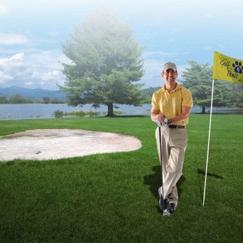 Golf Flag With Canvas Heading (double-sided)