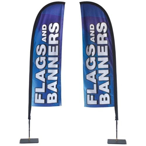 Store Front Flag — Double-sided Graphics (stand & Graphic)