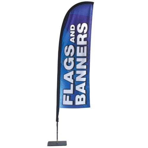 Store Front Flag — Single-sided Graphics (stand & Graphic)