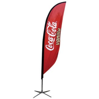 Feather Banner — Small, Single-sided With X Base (stand & Graphic)