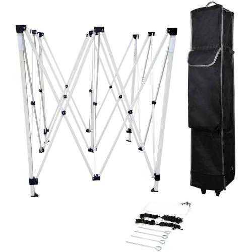 10ft x 10ft Custom Printed Pop Up Tent Kit – Steel Frame – 400 Denier Polyester